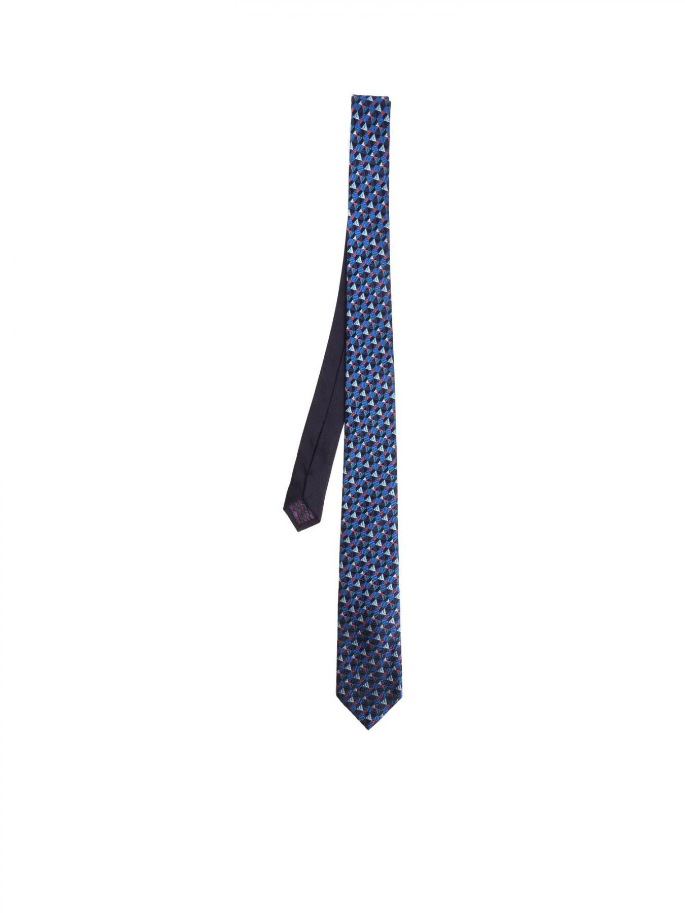 Missoni Wool And Silk Tie In Blue