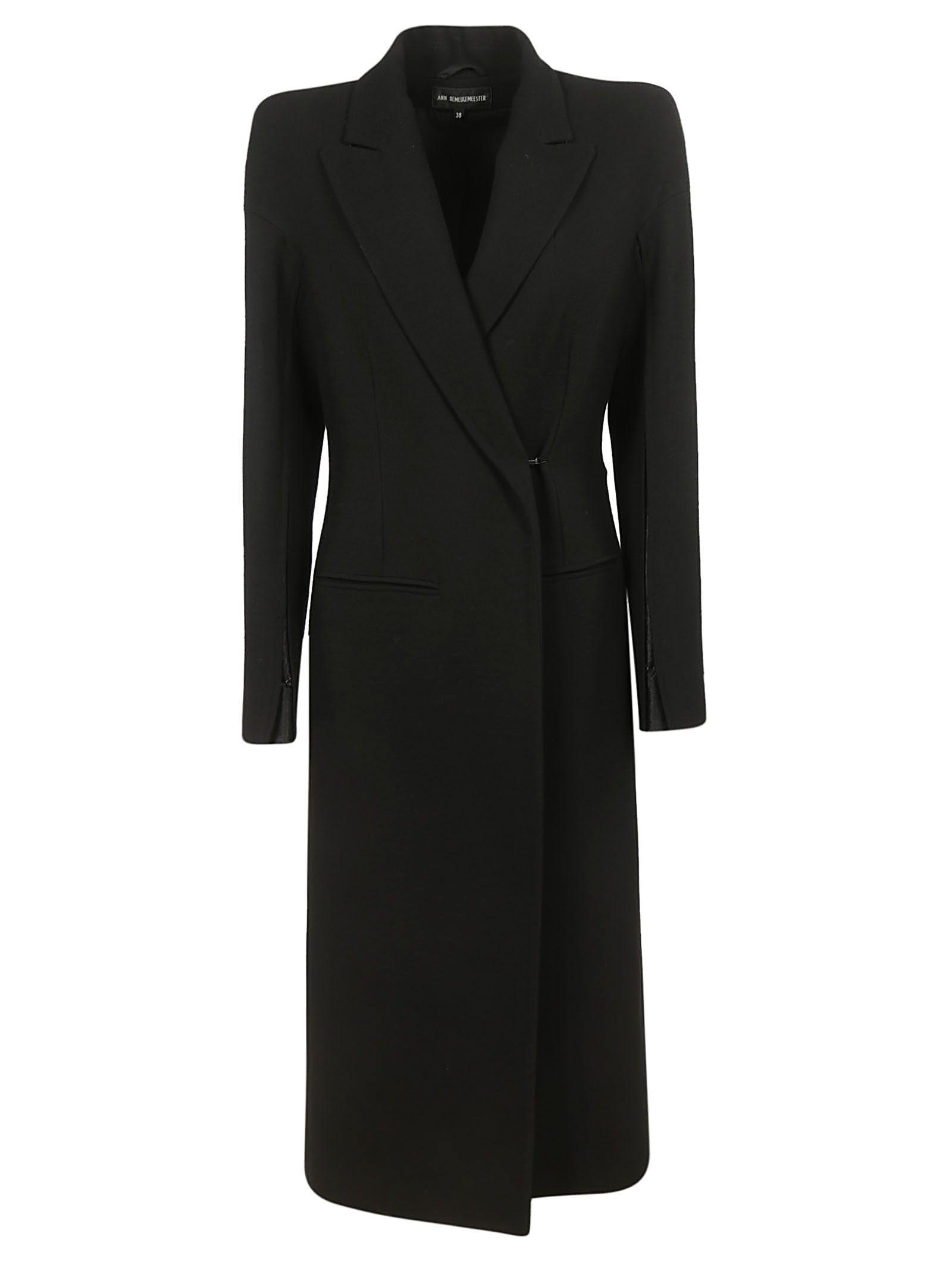Ann Demeulemeester Single-breasted Coat In Black