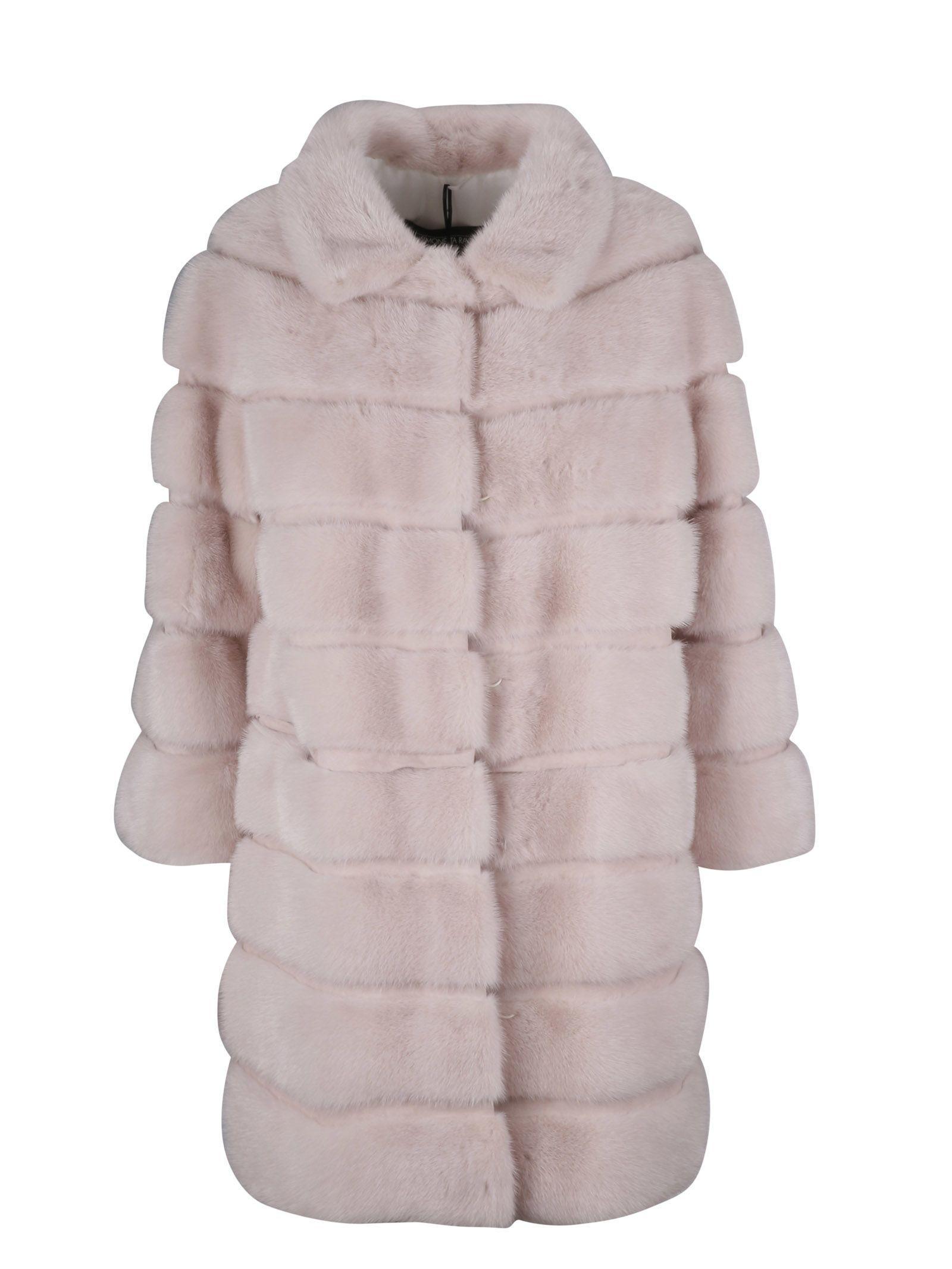 Simonetta Ravizza Fur Coat In Cipria