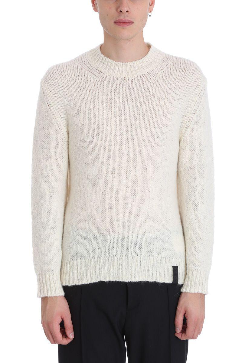 Kenzo Beige Wool And Mohair Sweater
