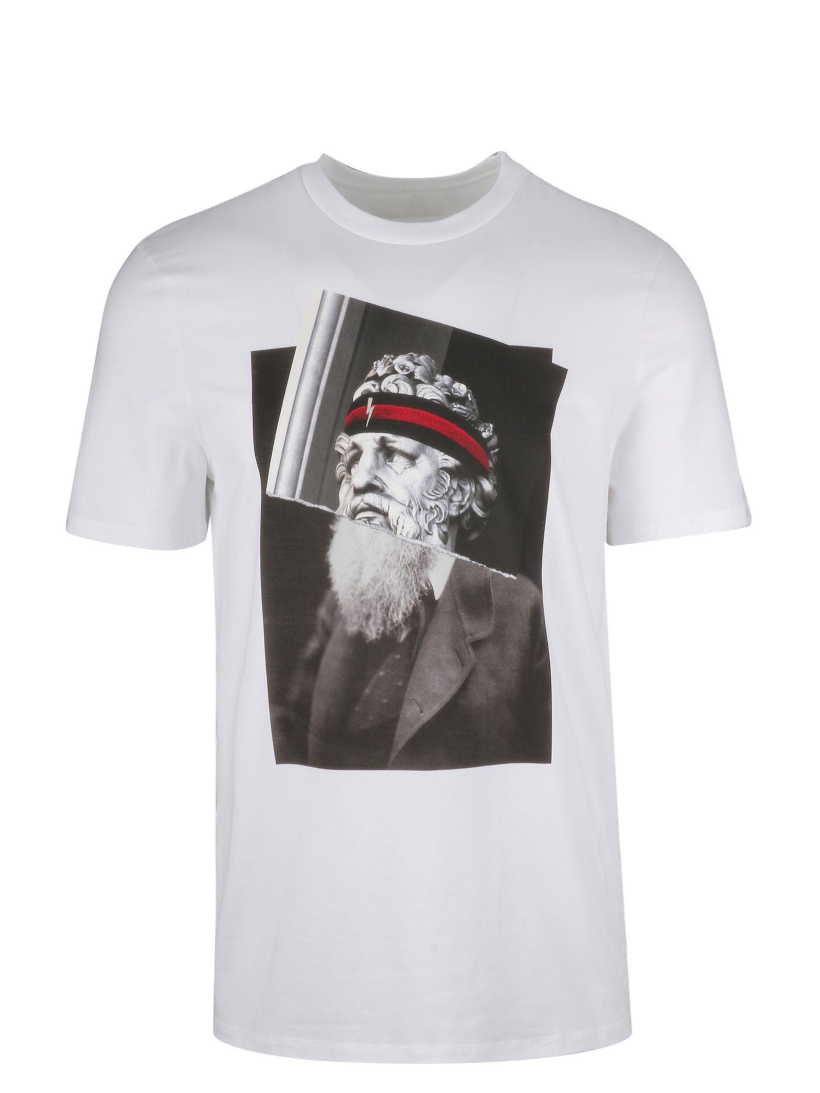 Neil Barrett Poseidon Printed T-shirt In 1413
