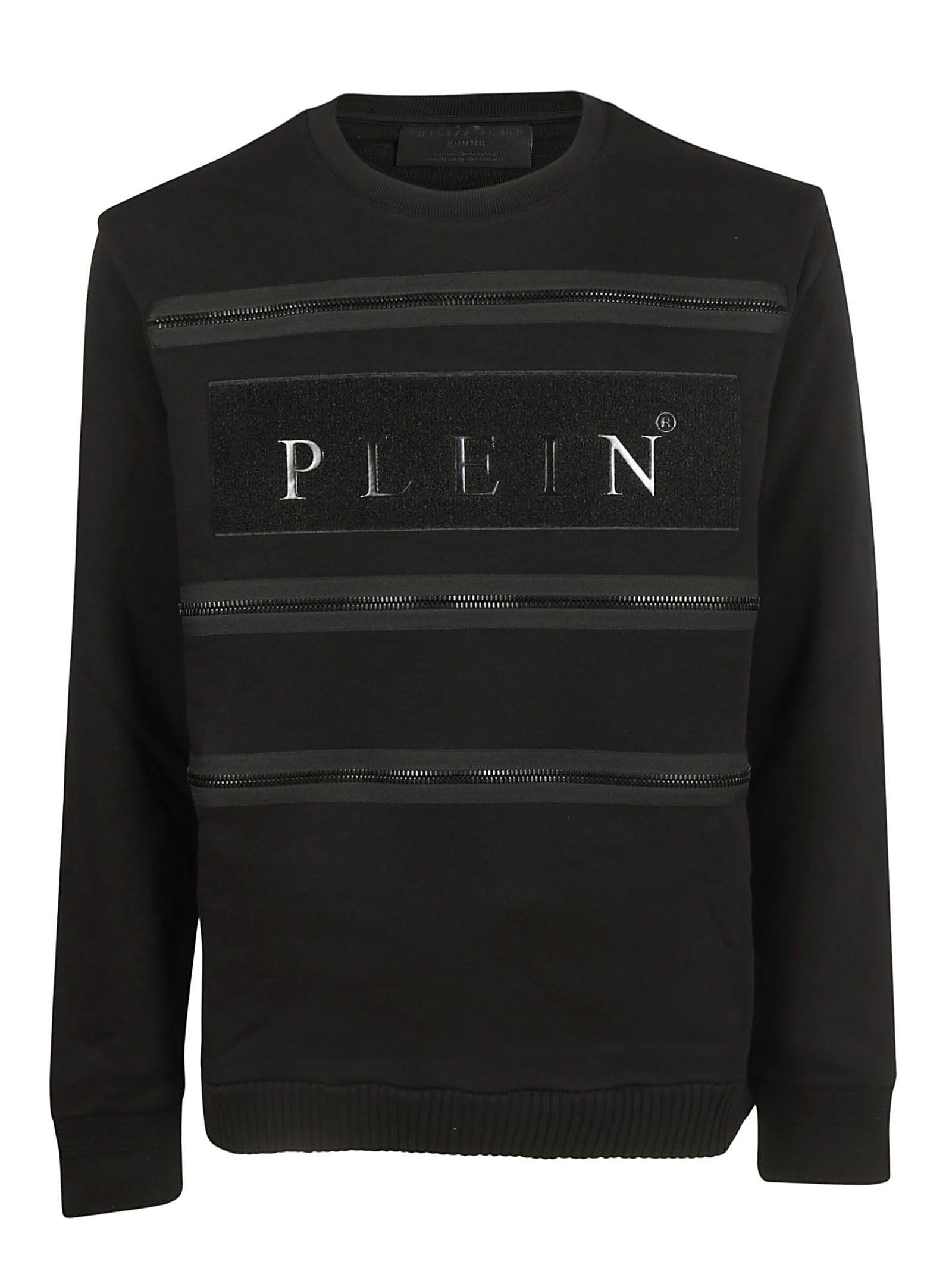 Philipp Plein Logo Sweatshirt In Black