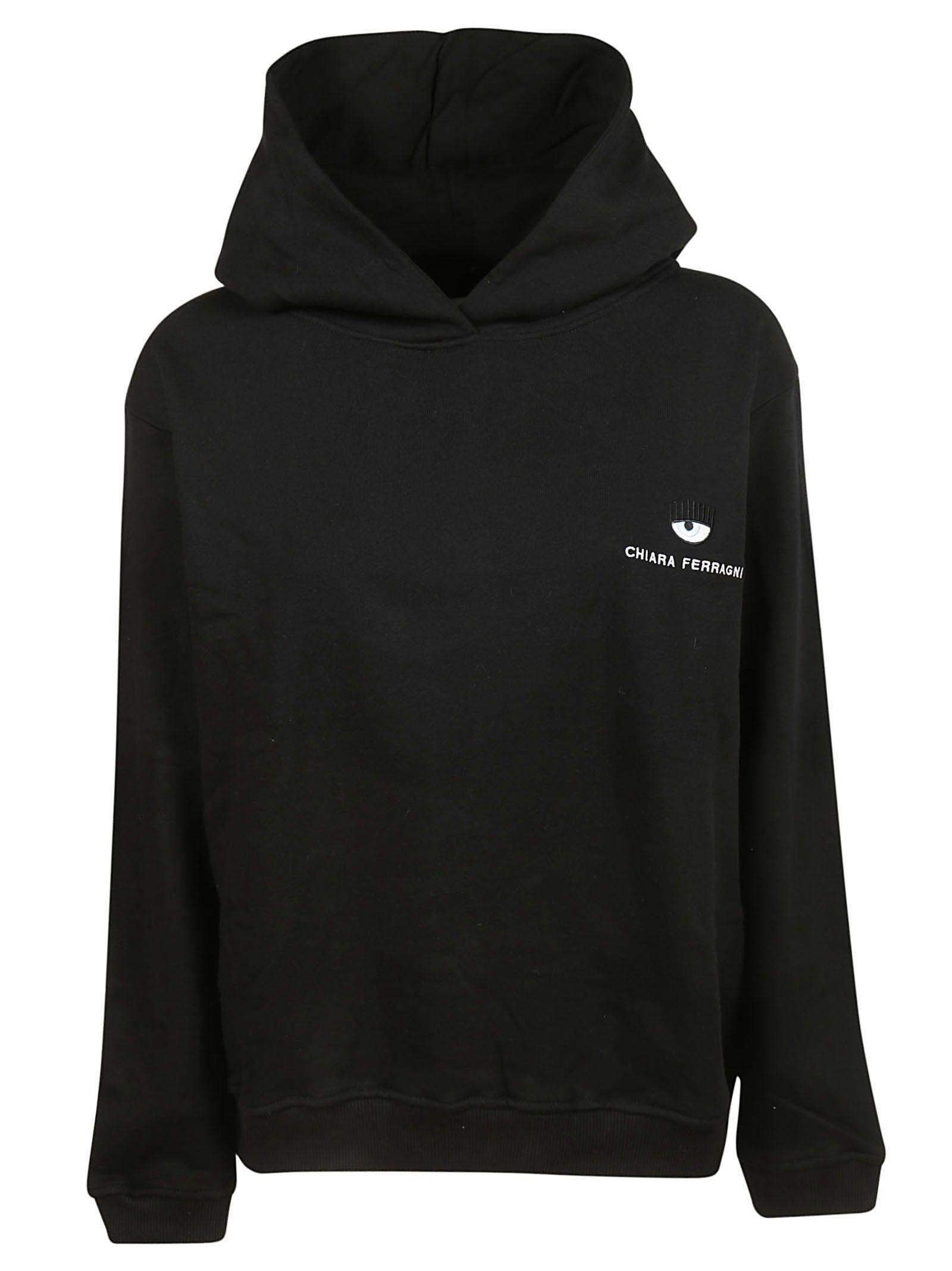 Chiara Ferragni Logo Hoodie In Black