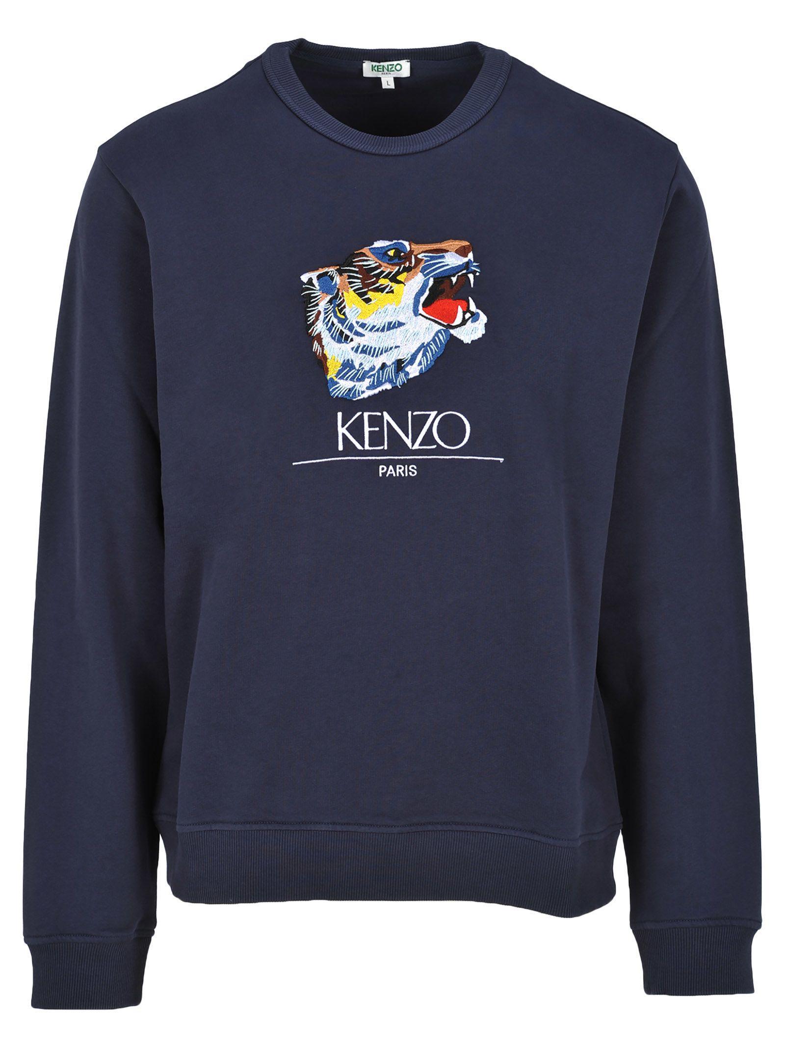 Kenzo Tiger Capsule Tiger Head Sweatshirt In Ink