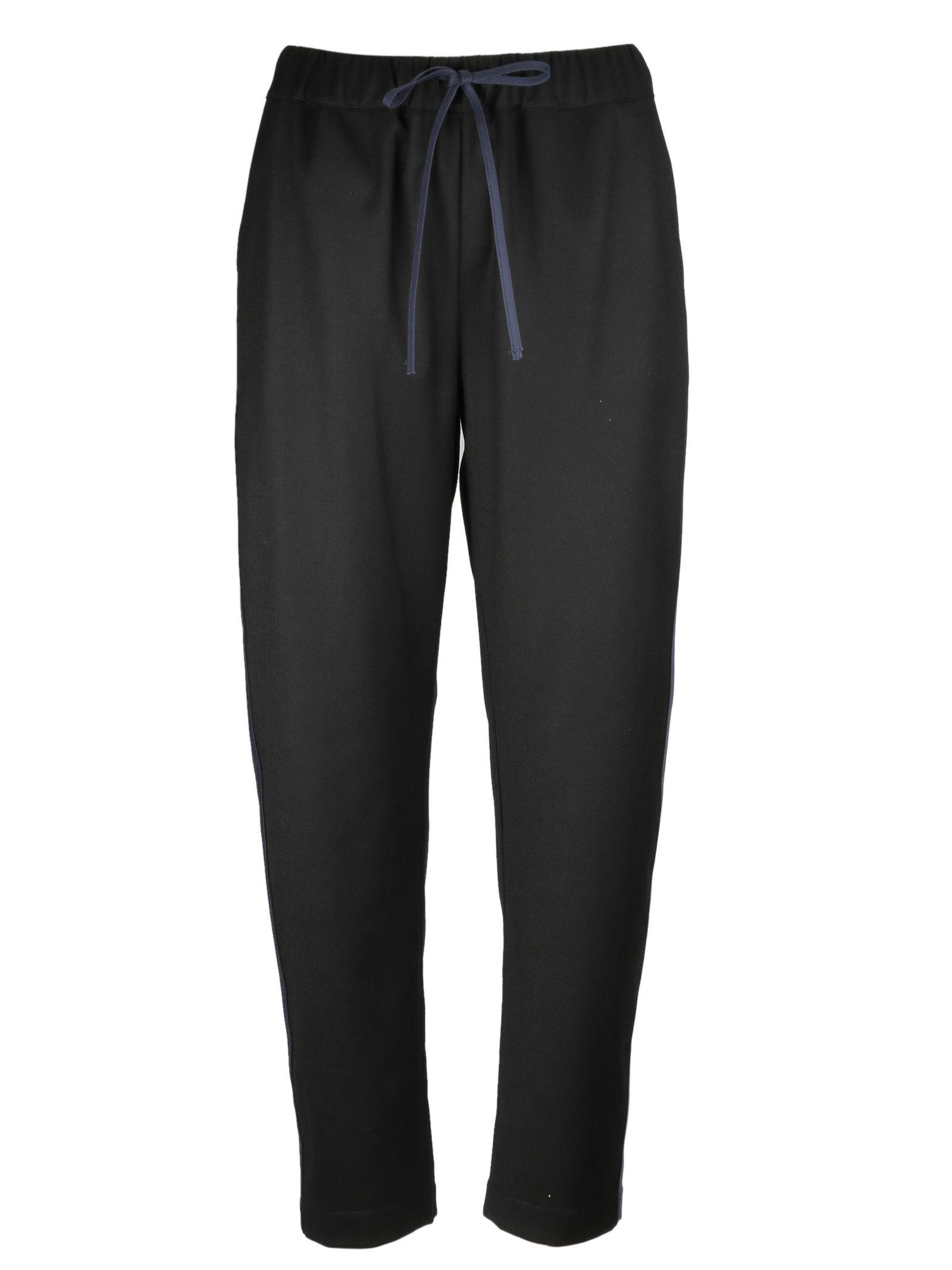 Semicouture Drawstring Track Pants In Nero