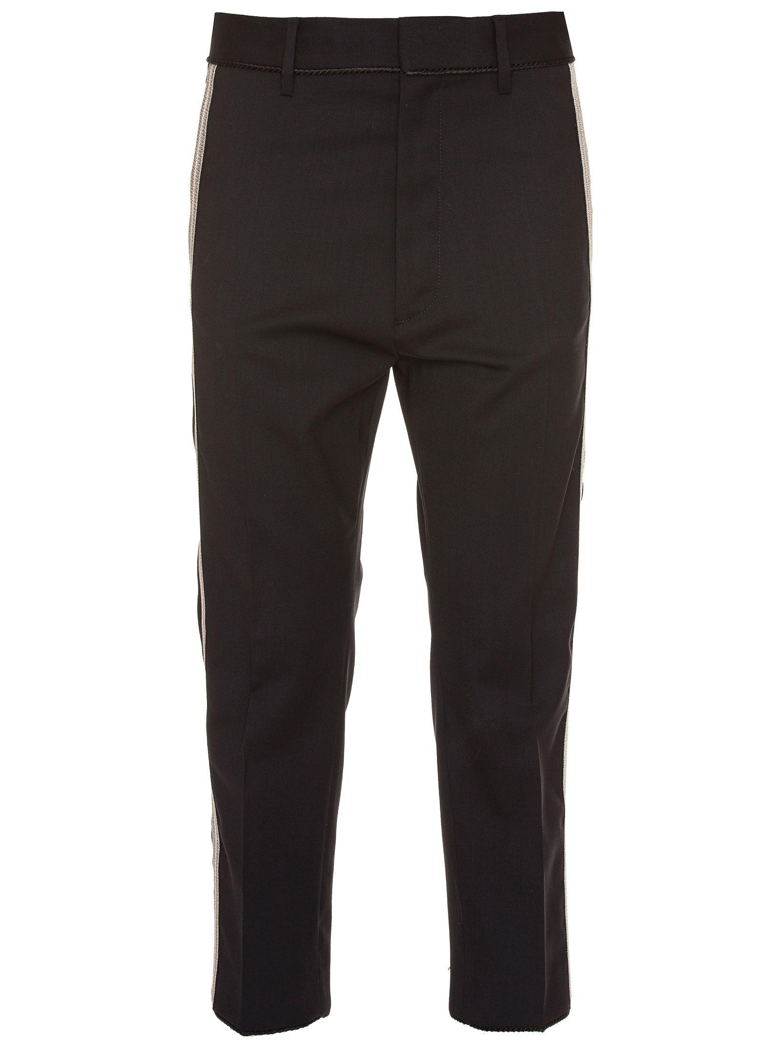 Dsquared2 Black Wool Pants In Nero