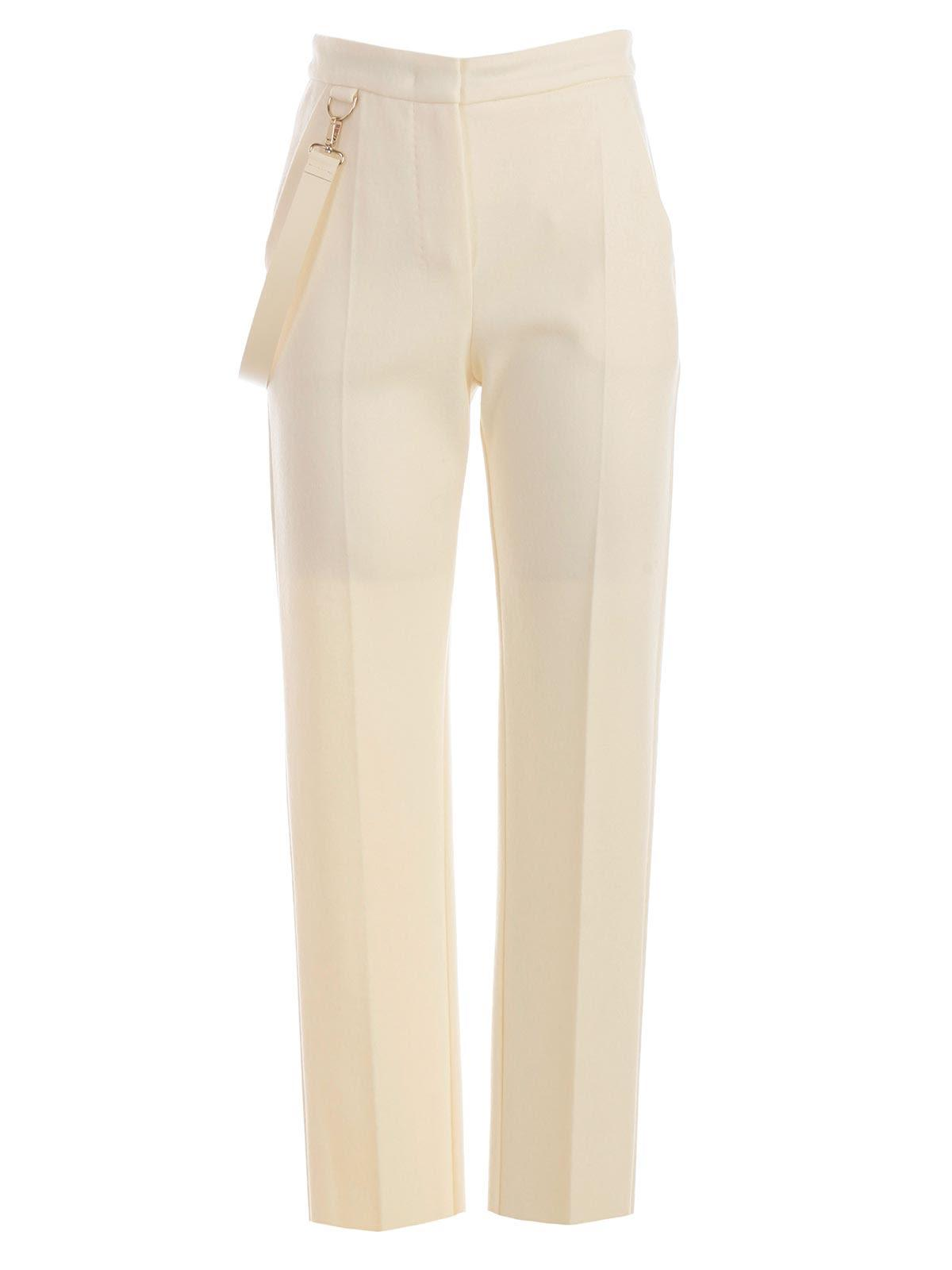 Max Mara High Waisted Trousers In White