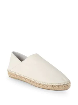 Vince Rachael Leather Slip-ons In Cream