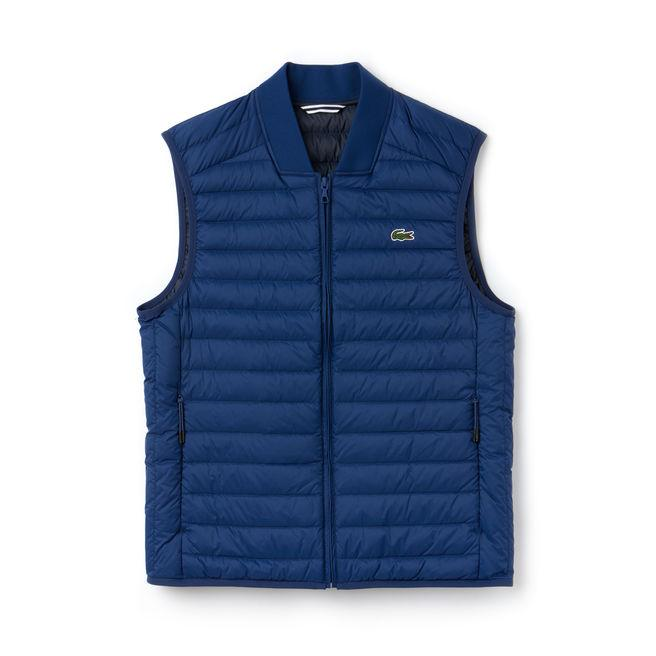 d9b008c9d41c Lacoste Men s Short Contrast Lining Quilted Vest In Inkwell
