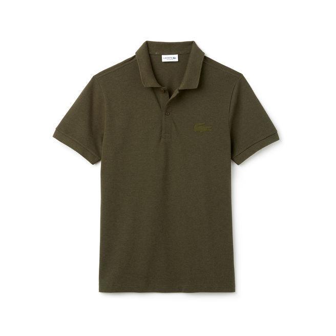 Lacoste Men's Regular Fit Cotton Petit PiquÉ Polo In Brown