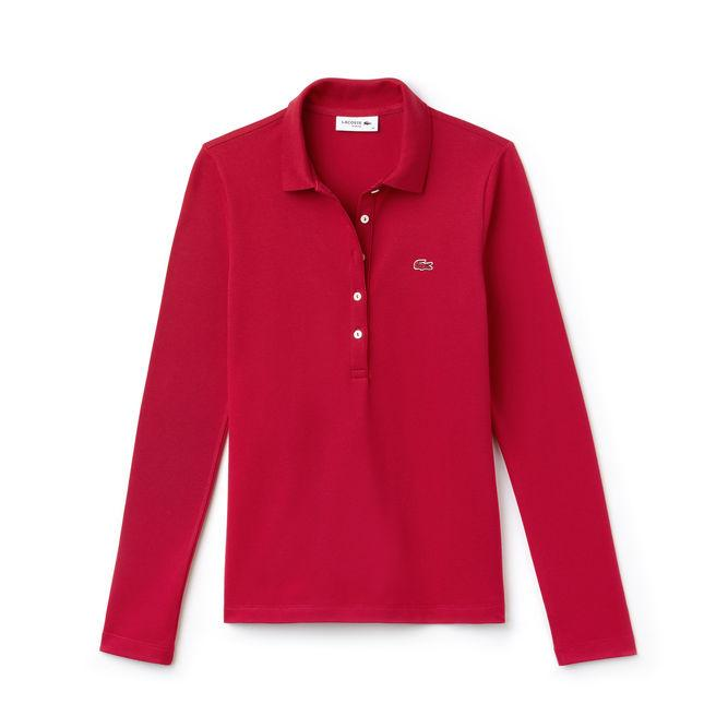 Lacoste Women's Slim Fit Stretch Mini PiquÉ Polo Shirt In Red