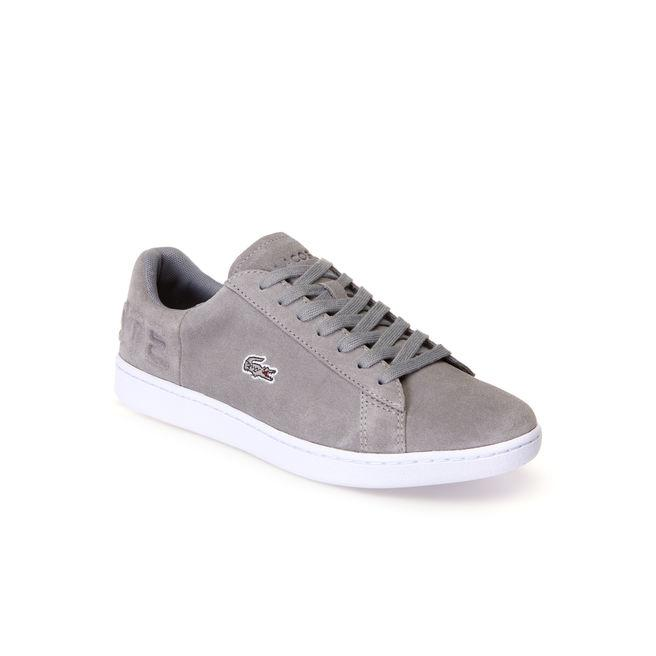 Lacoste Women's Carnaby Evo Suede Trainers In Grey/grey
