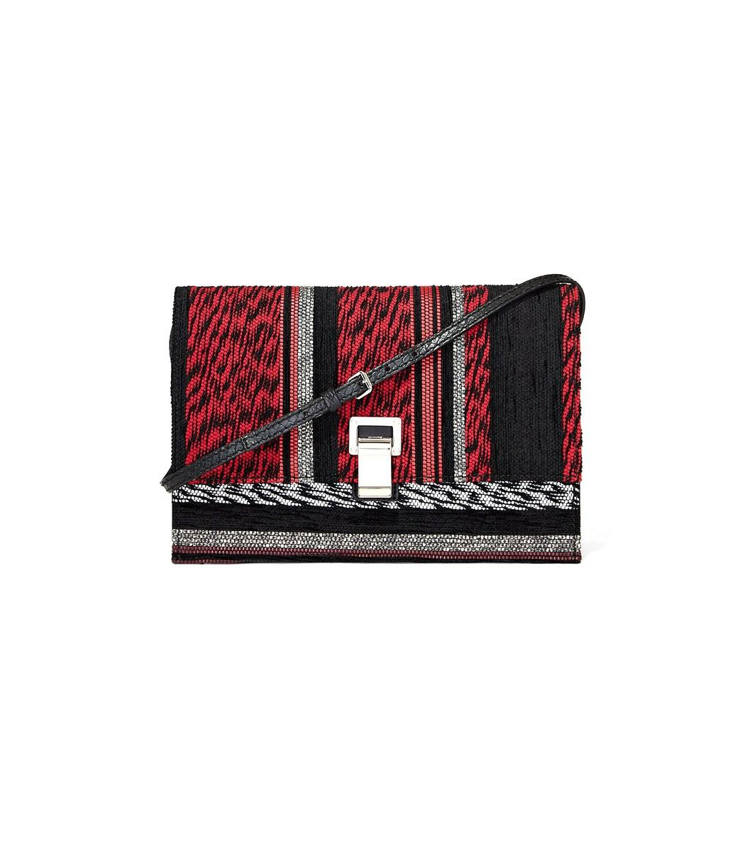 Proenza Schouler Red/black Mix Strap Small Lunch Bag