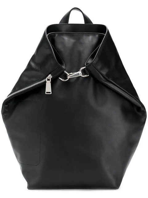 Jil Sander Clasp Detail Backpack In Black