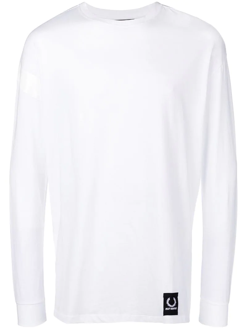 e70fd92f2d5 Fred Perry Raf Simons X Taped Sweatshirt - White