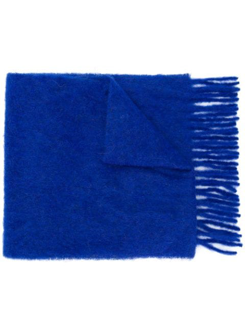Forte Forte Knitted Scarf In Blue