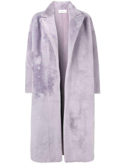 16arlington Long Shearling Coat - Pink