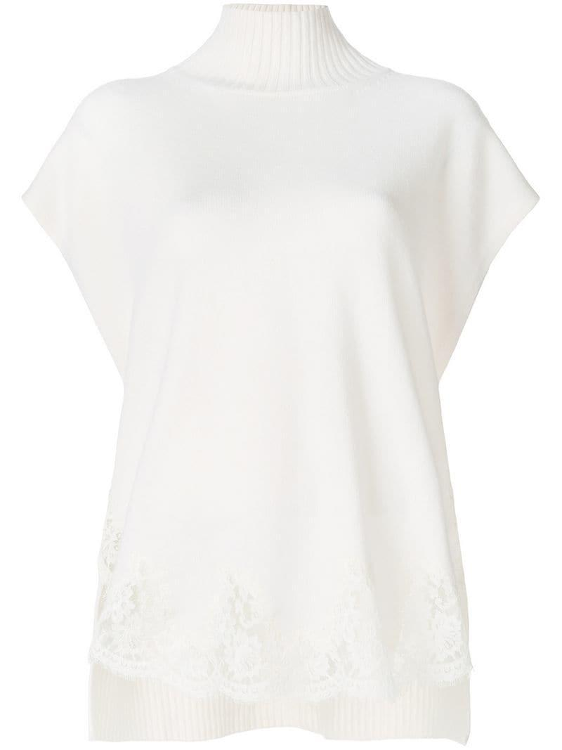 Ermanno Ermanno Lace Detail Jumper - White