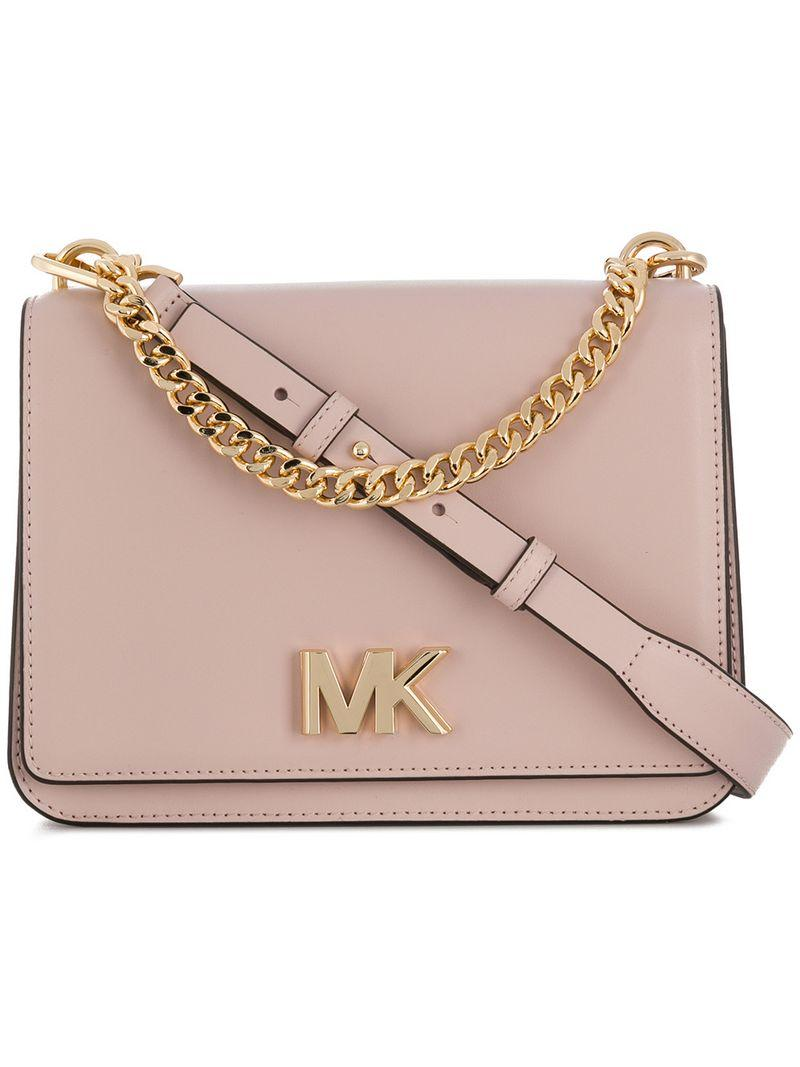 477f52b61d21 Michael Michael Kors Foldover Logo Crossbody Bag - Pink | ModeSens