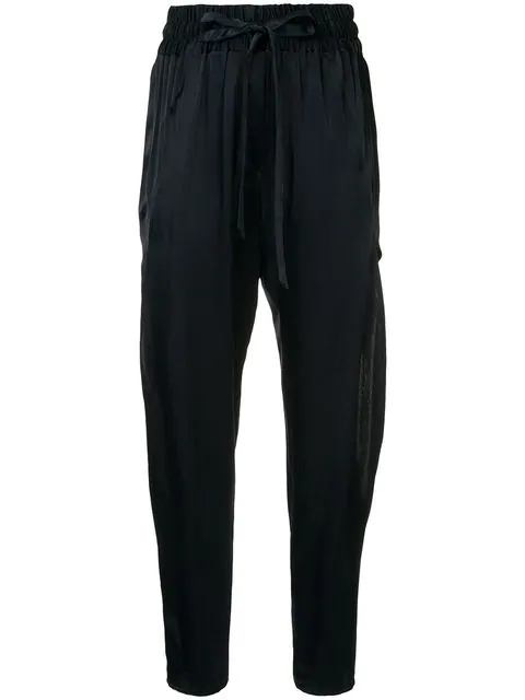Manning Cartell Drawstring High Waisted Trousers  In Royal Navy