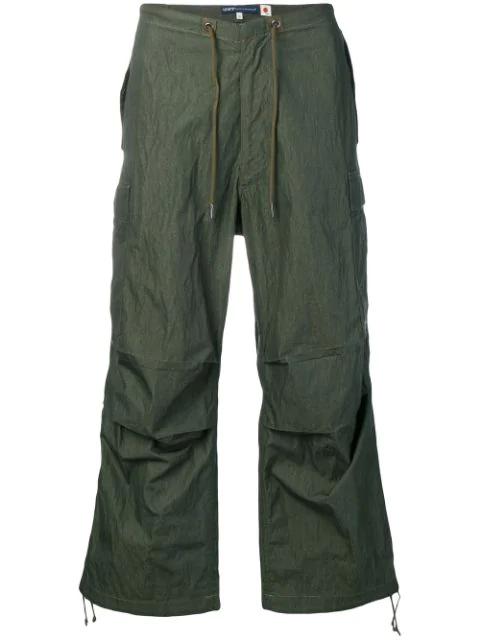 Levi's Wide Leg Cargo Trousers In Green