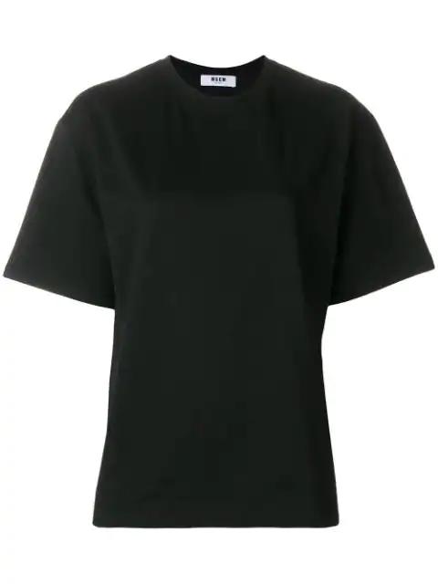 Msgm Classic Logo Print T-shirt - Black