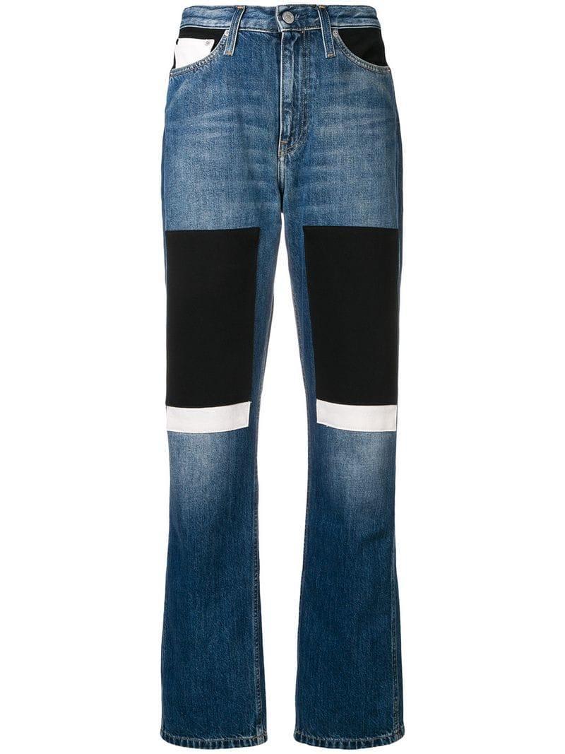 Ck Jeans Calvin Klein Jeans Patchwork Jeans - Blue