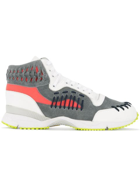 Kolor Woven Details Hi-top Sneakers - White