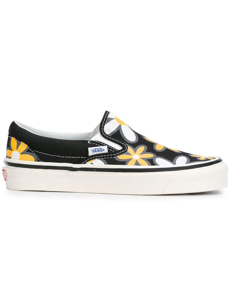 Vans Classic Floral-print Sneakers - Black