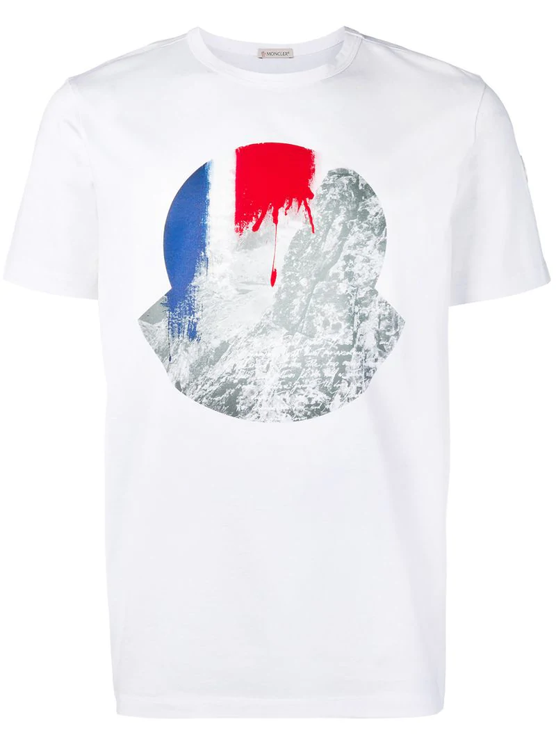 9babfaff3 Moncler Graphic Print T-Shirt - Farfetch in White