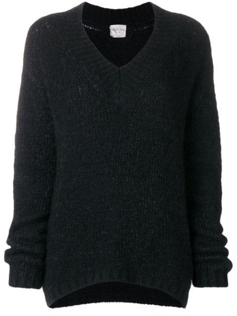 Forte Forte Classic V-neck Pullover - Black