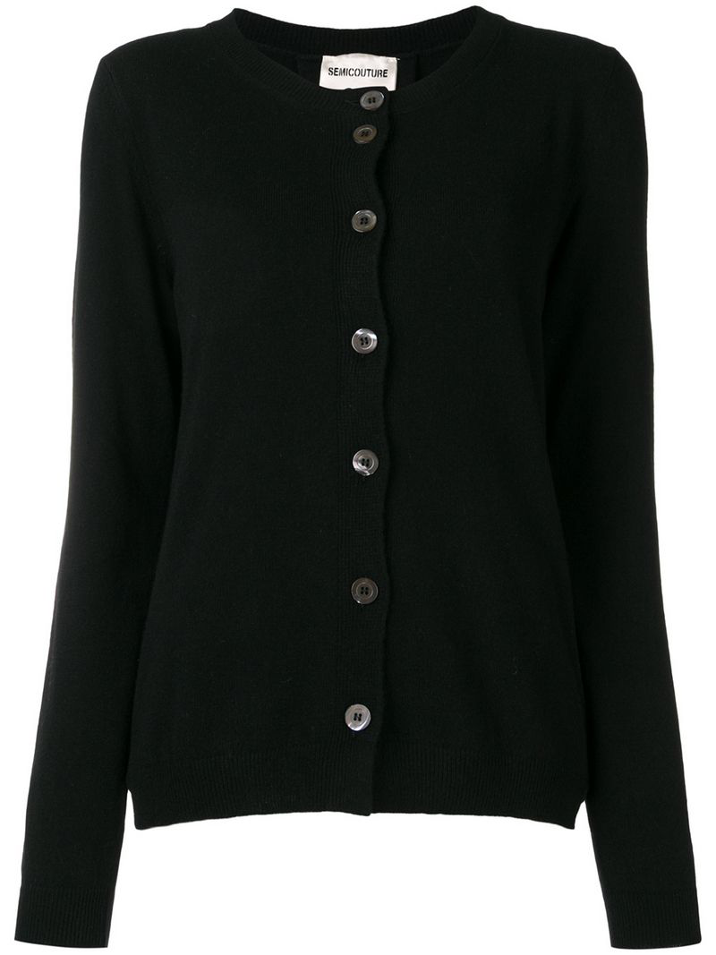 Semicouture Classic Cardigan In Black