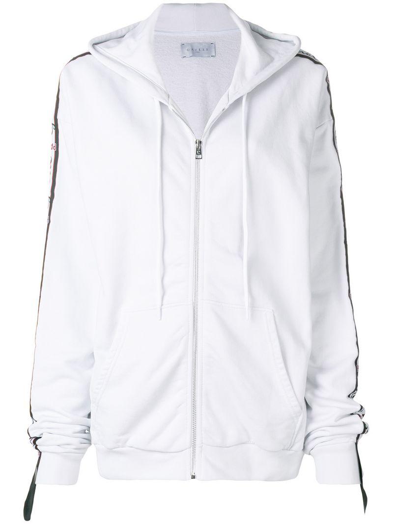 GaËlle Bonheur Gaelle Bonheur Logo Stripe Hoodie - White