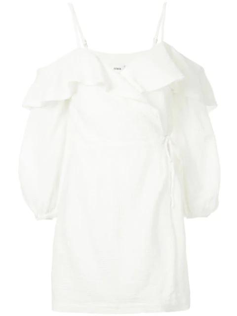 Suboo Off-shoulder Wrap Dress - White