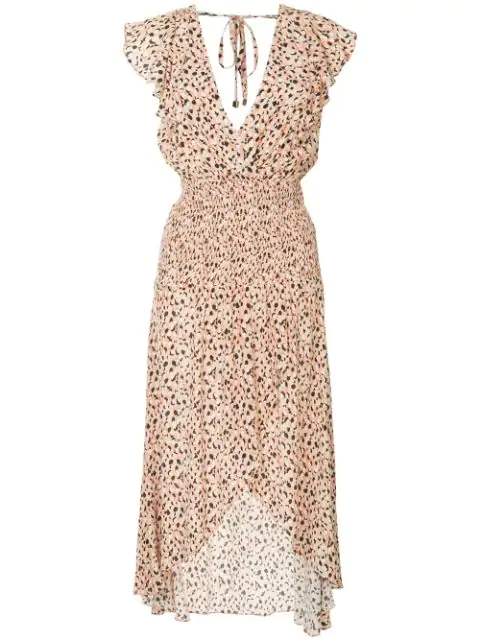 Suboo Leopard Print Maxi Dress - Pink