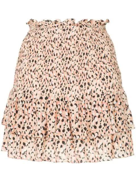 Suboo Leopard Print Flippy Skirt - Yellow