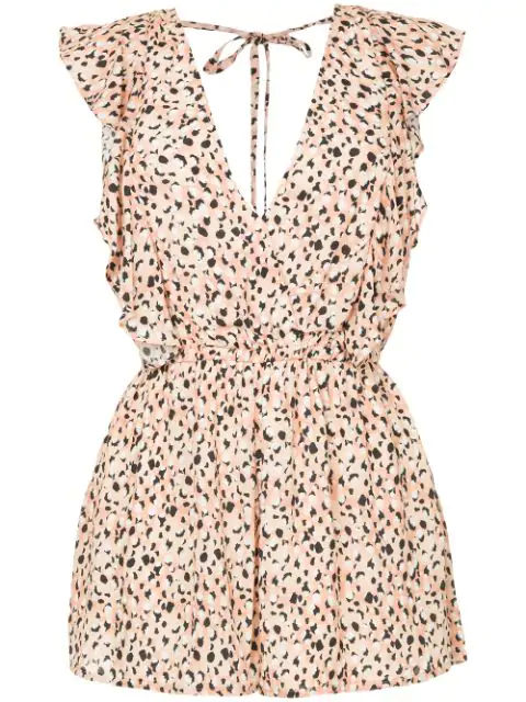 Suboo Leopard Print Playsuit - Yellow