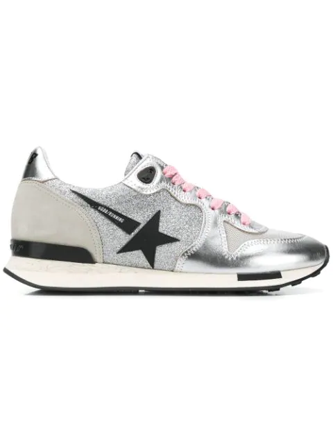 Golden Goose Running Sneakers In Metallic