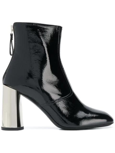 Premiata Metallic Heel Ankle Boots - Black