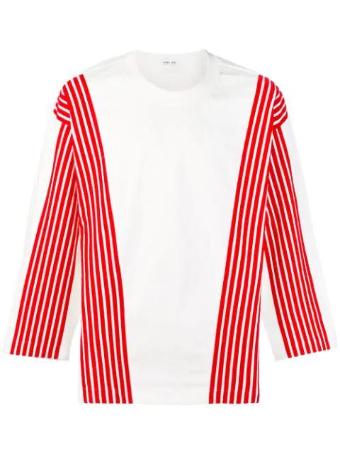 Dima Leu Striped Details Sweatshirt In White