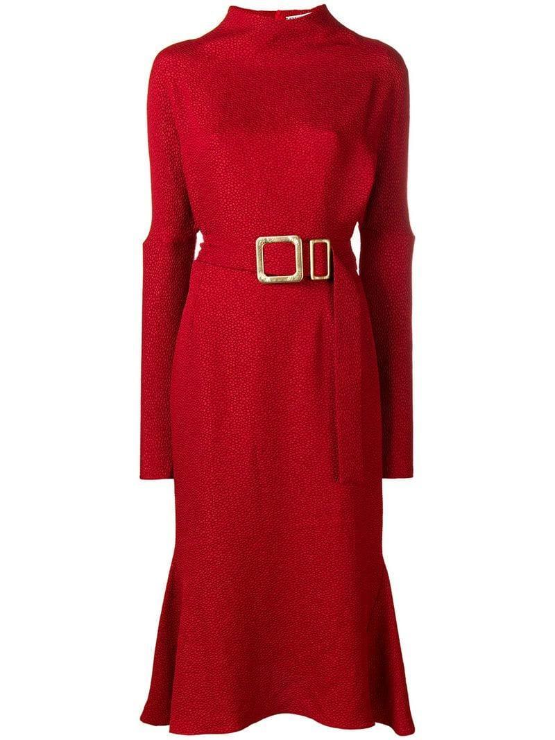 Edeline Lee Powolny Dress - Red
