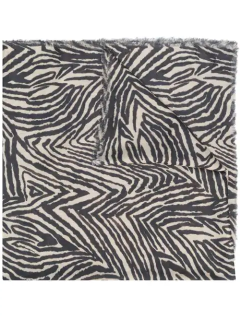 Lily And Lionel Zebra Scarf - Neutrals