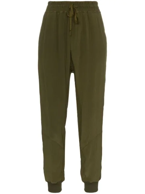 Haider Ackermann Loose Fit Track Pants In Green
