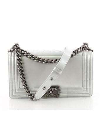 9d707625a71e90 CHANEL. Pre-Owned: Reverso Boy Flap Bag Glazed Iridescent Calfskin Old  Medium ...