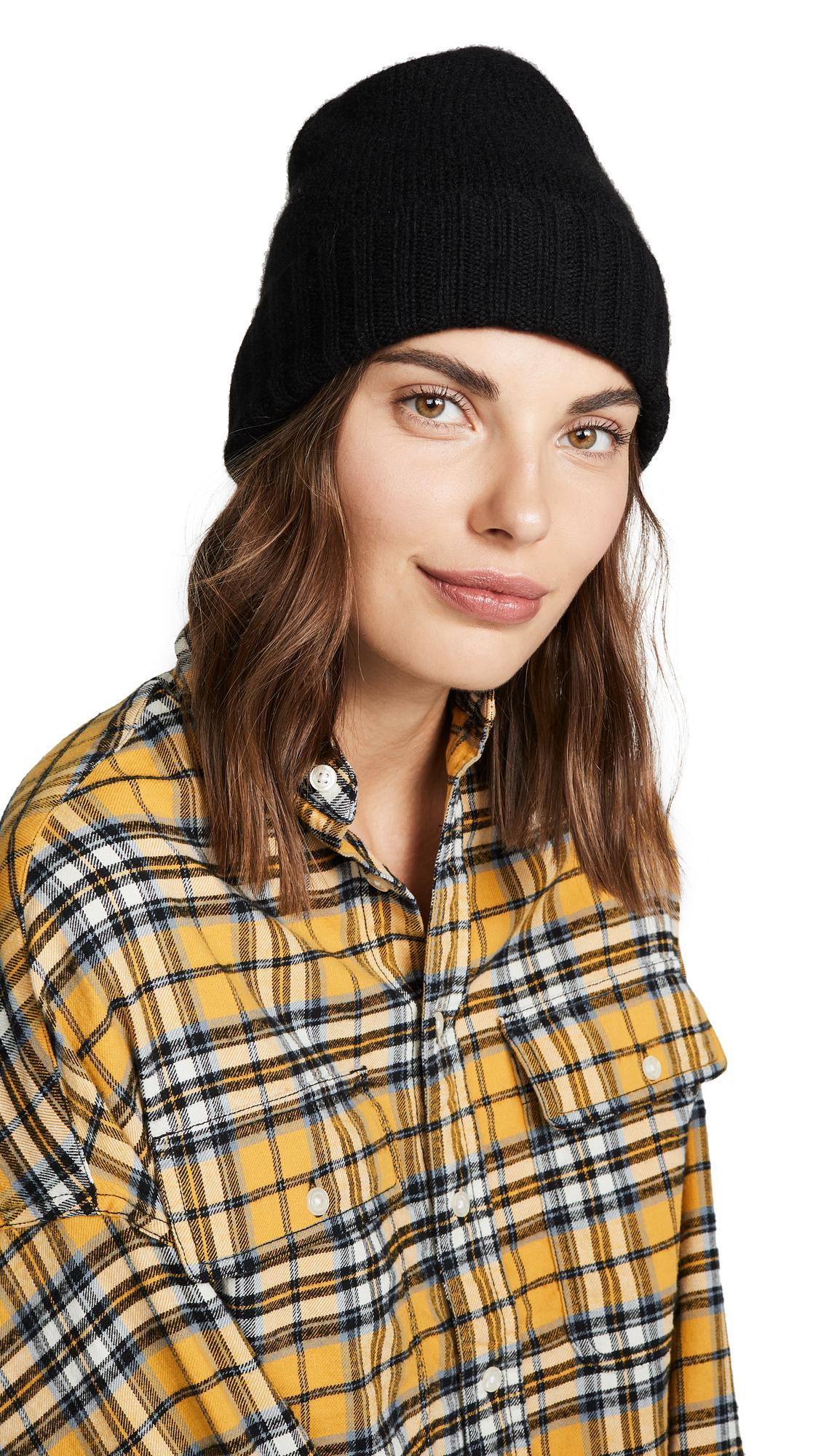 e9eb41f64b Hat Attack Cashmere Slouchy Cuff Hat In Black