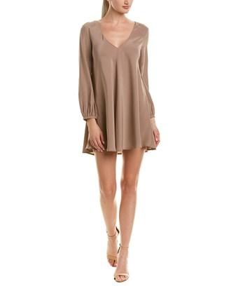 Amanda Uprichard Silk Shift Dress In Brown