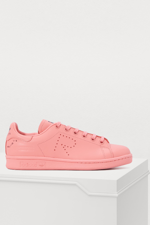 Adidas By Raf Simons Raf Simons For Adidas Men's Stan Smith Leather Lace-Up Sneakers In Pink