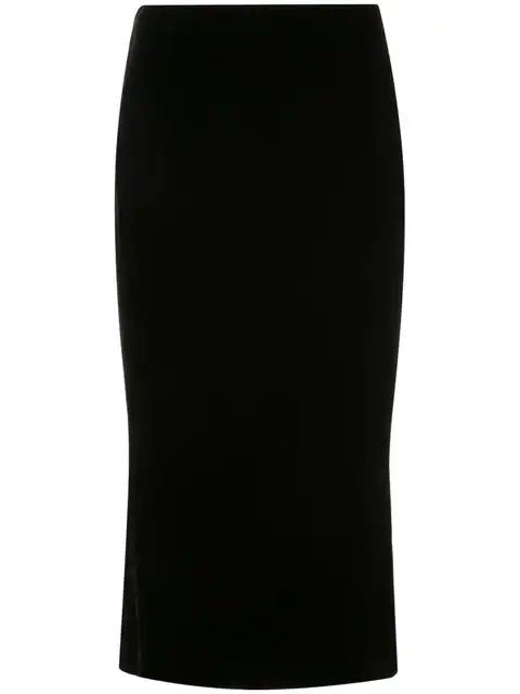 Marchesa Pencil Midi Skirt In Black