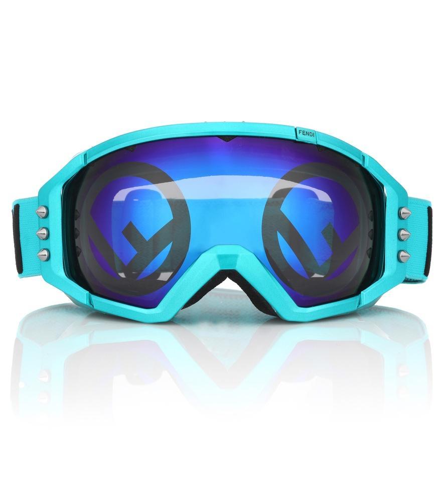 3fddf62f1f09 Fendi Mirrored Ski Goggles In Blue Multi