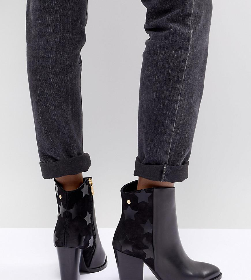 830db4532 Tommy Hilfiger Leather Heeled Ankle Boots - Black